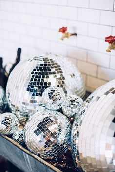 I need a disco ball (or 5) in my life!