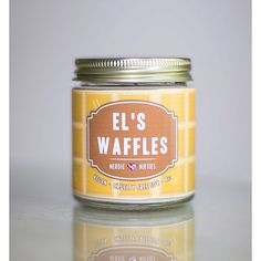 El's Waffles Stranger Things Inspired Soy Candle (4 oz) (20 BRL) ❤ liked on Polyvore featuring home, home decor, candles & candleholders, soy wax candles, soy candles and inspirational home decor