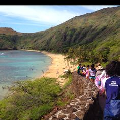 Hanauma Bay.Ohau, Hawaii. iThis is an awesome place!  You can snorkel with out having to have your feet leave the bottom.  My kind of place and wow..all the things you can see!