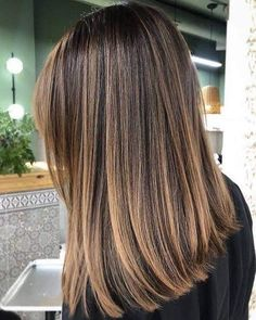 Brown Hair With Blonde Highlights, Brown Hair Balayage, Balayage Brunette, Hair Color Balayage, Hair Highlights, Hair Color For Brunettes, Hair Color Ideas For Brunettes Balayage, Full Balayage, Balayage Straight