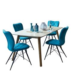 Lund Extending Dining Table and 4 Flynn Chairs | Dining Chairs | Dining Room