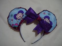 Doc McStuffins inspired Mickey Mouse ears by Glitteratheart on Etsy