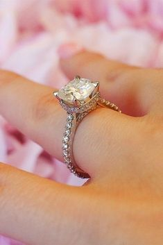36 Utterly Gorgeous Engagement Ring Ideas ❤️ engagement ring inspiration solitaire pave band moissanite gold ❤️ See more: http://www.weddingforward.com/engagement-ring-inspiration/ #weddingforward #wedding #bride