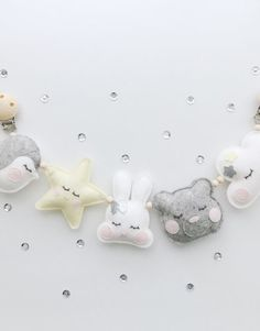 WAGENSPANNER - cuties grijs, geel, wit