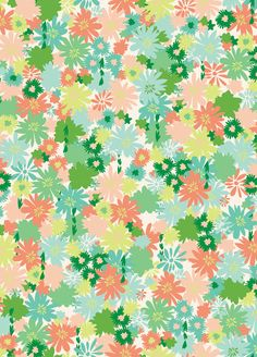 Sweet Tea - Floral in Bright by Khristian A. Howell for Anthology 1  yd Cotton Quilt Fabric. $8.75, via Etsy.