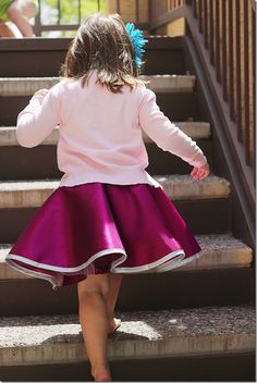 Tutorial: Little girl's fancy circle skirt with a tulle underlayer