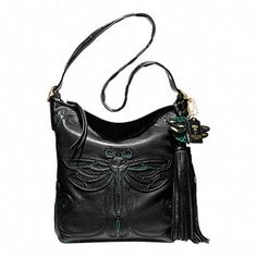 Limited Edition Exclusive Handbags, Purses, and Bags from Coach...Legacy Anna Sui large dragonfly duffle