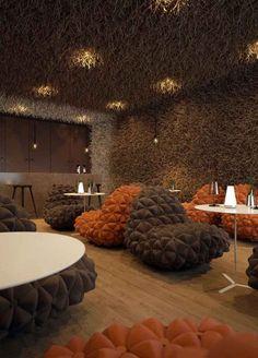 Unique Restaurant Interior for Your Knowledge : Geometric Interior Design