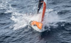 June 09, 2015. Team Alvimedica passing by Costa da Morte - Coast of Death - in Spanish waters during Leg 8 to Lorient Ainhoa Sanchez / Volvo Ocean Race