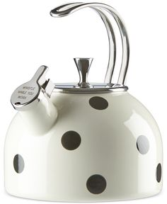 Tea Kettle kate spade new york All in Good Taste qt. Tea Kettle in Dots kate spade new york All in Good Taste qt. Tea Kettle in Dots Teawith Kettle Kitchen Gadgets, Kitchen Appliances, Cooking Gadgets, Kitchen Tools, Wine Gadgets, Top Gadgets, Kitchen Products, Kitchen Supplies, Cooking Tools