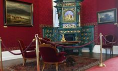 The reception room of Franz Ioseph I Neo-Renaissance fireplace Sissi, Royal Palace, Reception Rooms, Castles, Renaissance, Painting, Furniture, Home Decor, Reception Halls