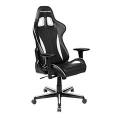DXRacer Formula Series DOH/FH57/NW Newedge Edition Racing Bucket Seat Office Chair Pc Gaming Chair Computer Chair Vinyl Desk Chair With Pillows(Black/White)  The Formula Series is DXRacer's answer to those seeking affordable luxury. These chairs are well-known to eSports players and their fans. We are featured by popular eSports teams such as compLexity, Dignitas, and Fnatic, and are represented at big events such as UMG and WCG. The Formula Series' high-density cold cure foam fillin..