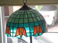 Lámpara colgante en vitral
