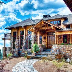 Which cozy house is your favorite? Dream Home Design, My Dream Home, House Design, Water Architecture, Architecture Design, Aka House, Modern Log Cabins, Lakefront Homes, Log Cabin Homes