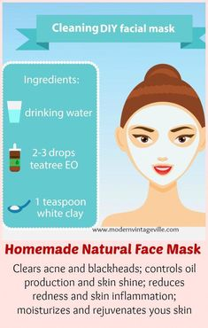 Make your own face mask that will heal acne, inflammation, and face redness.  It clears pores and blackheads, make pore size visible smaller.  10 more recipes are in the blog post. #FaceScrubHomemade Homemade Moisturizer, Face Scrub Homemade, Homemade Facials, Homemade Face Masks, Homemade Skin Care, Diy Face Mask, Homemade Clay, Diy Masque, Best Skin Care Routine