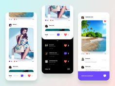 Social Photo designed by Aleksandr. Ui Design, Layout Design, Card Ui, Mobile App Ui, Web Inspiration, Web Layout, Mobile Design, Show And Tell, Data Visualization