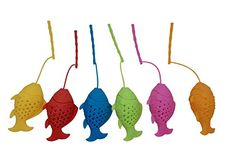 Traditional Blisslii Mood Fish Tea Infusers, Diffusers, Loose Tea Leaf Strainers, Herbal Spice Filters (Set of 6), ,