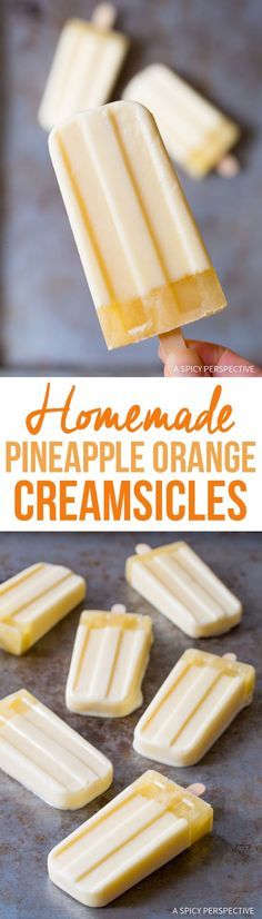 4-Ingredient Homemade Pineapple Orange Creamsicle Recipe #summer
