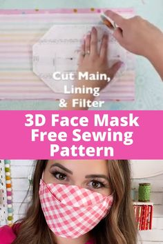 Easy Face Masks, Homemade Face Masks, Sewing Patterns Free, Free Sewing, Clothes Patterns, Sewing Hacks, Sewing Tutorials, Tutorial Sewing, Sewing Blogs