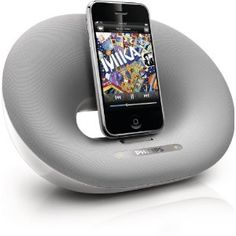 Philips Fidelio DS3000 Desktop Speaker Dock for iPod and iPhone (White/Silver)