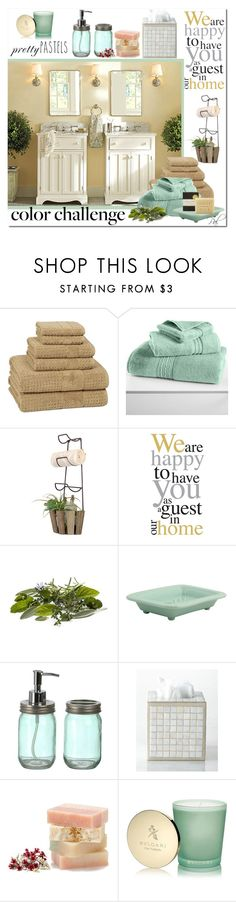"""Be our Guest"" by pamlcs on Polyvore featuring interior, interiors, interior design, home, home decor, interior decorating, Kassatex, Hotel Collection, Dot & Bo and Boston International"