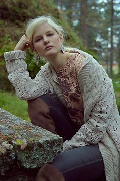 Handknit Star-Stitch Cardigan - anthropologie.com #anthrofave