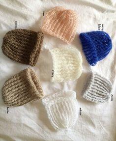 a0fa57f1273 Baby Boy Knit Mohair Beanie Hat for newborn handmade crochet photo prop Baby  Boy Knitting
