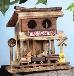 Image Detail for - 30661 Train Station Wood Birdhouse