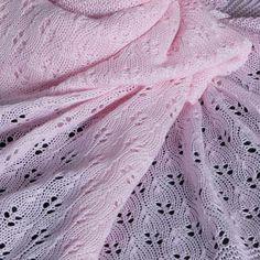 Soft Pink Cotton Christening Shawl