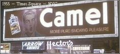advertisment History Of Tobacco, Billboard, Camel, Times Square, Pure Products, Education, Smoking, Blog, Sign