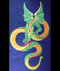 dragon quilt | The quilt Dragon Quilt under construction was a request by her ...