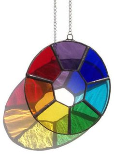 Stained Glass Chakra Sun Catcher by Raven's Stained Glass contemporary-accessories-and-decor Stained Glass Suncatchers, Stained Glass Designs, Stained Glass Panels, Stained Glass Projects, Stained Glass Patterns, Stained Glass Art, Mosaic Glass, Fused Glass, Mosaic Mirrors
