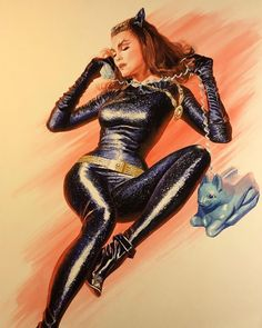 """9,466 Likes, 54 Comments - Alex Ross (@thealexrossart) on Instagram: """"Purr-fect: Julie Newmar as Catwoman Just Announced! This limited edition canvas will debut Dec. 9…"""""""