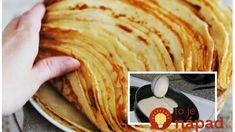 Najrýchlejšie palacinky na slano, aj na sladko: Skvelé hlavné jedlo, aj dezert za pár eur! Pancakes, Breakfast, Ethnic Recipes, Food, Morning Coffee, Essen, Pancake, Meals, Yemek