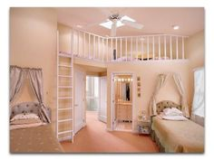 Love the little loft up above Simple Bedroom Decor, Teen Bedding, King Bedding Sets, Couple Bedroom, Bedroom Sets, Teenage Room, Teen Girl Bedrooms, Bedroom Paint Colors, Wall Colors