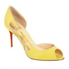 Christian Louboutin Delico 100mm Peep Toe Pumps Giallo Rivenditori Italia