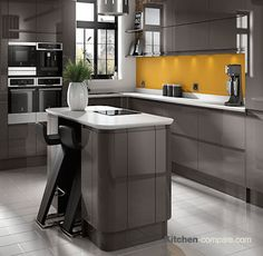 7 best contemporary dark grey handleless kitchens images modernthis wickes sofia graphite kitchen\u0027s high gloss, dark grey units create an unusual and striking contemporary look