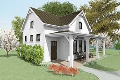 Plan 430808SNG: 750 Square Foot Cottage House Plan With Vaulted Living Room Tiny House Cabin, Cottage House Plans, Craftsman House Plans, Modern House Plans, Small House Plans, Cottage Homes, House Floor Plans, Coastal Cottage, Coastal Decor