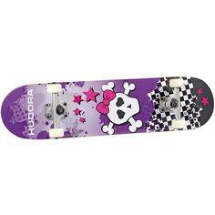 """Für coole Skater-Girls und Skate-Anfänger - das Skateboard """"Skull"""" von HUDORA.<br /> <br /> Mit dem neuen Skateboard von Hudora sind coole Mädels voll im Trend. Das aus 100% hochwertigem kanadischen Ahorn gefertigte Skateboard besticht nicht nur durch ein cooles Design, sondern punktet auch mit den neusten Technik-Features. Durch die ABEC 5 Kugellager wird ein angenehmes Fahrgefühl erreicht.<br /> <br /> Details:<br /> - aus 100 % hochwertigem kanadischen Ahorn <br /> - in 9 Schichten <br…"""