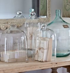 10 Things to Put in a Cloche - Cedar Hill Farmhouse Antique Bottles, Vintage Bottles, Vintage Perfume, Antique Glass, Cedar Hill Farmhouse, Farmhouse Chic, French Farmhouse, French Decor, French Country Decorating