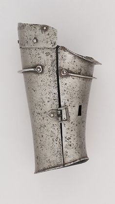 """""""Defense for the Lower Left Forearm (Vambrace)"""" (ca. 1400-1425). Italian. Posted on metmusem.org."""