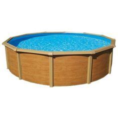 piscine mtal aspect bois trigano tahia 390 m 132 m - Piscine Hors Sol Metal Aspect Bois