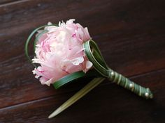 peonies boutonniere | photo