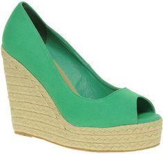ShopStyle: ASOS PENNY Espadrille Wedge Peep Toe Shoes