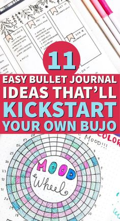 Learn how to start a bullet journal without feeling overwhelmed. Discover eleven simple layouts ideas #bulletjournal #bujo #bulletjournalcollection