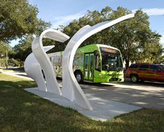Orlando Bus Stop - part of an effort to bring art into the community.