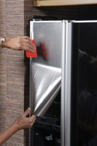 Faux Steel Film: Instant Stainless Steel Film for Appliances, Peel and Stick Faux Stainless Steel Sheets - Installation Tutorials