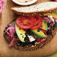 Market Sandwich - If You have to use canned (S&H) try the Low Sodium black beans - Simmer for approximately 20 to make them more tender.  :{