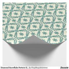 Diamond #Snowflake Pattern #Gift #Wrap by #FoxyBoxySolutions on #Zazzle. #Winter