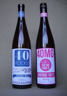 40 wine labels for a 40th birthday party - could do for any age though